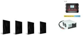 Комплект солнечных батарей для дома Стандарт 1000